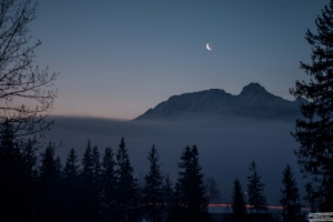 1st light over the Tatra Mountains