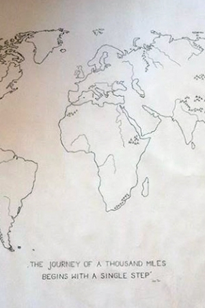 Map of the world – the biggest painting that I've ever made